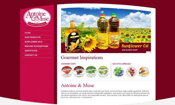 Sun flower oils and gourmet food production in Canada