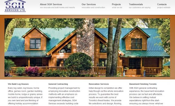 Log house professional builder